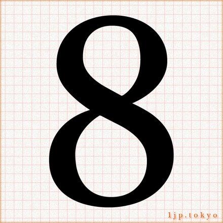 「8」の数字書き方 【文字】   8レタリング